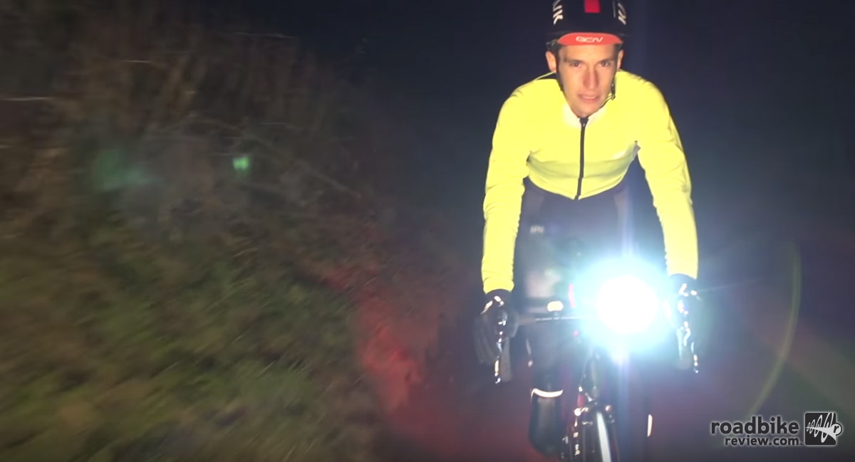 A bright headlight will keep you headed in the right direction — and make you more visible.