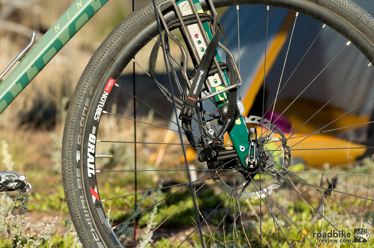 The new RLT fork has in molded eyelets and is compatible with a number of rack and fender combinations.