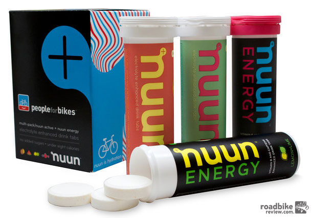 The Nuun + PeopleForBikes co-branded product is available at all REI and Performance Bike locations for $24.