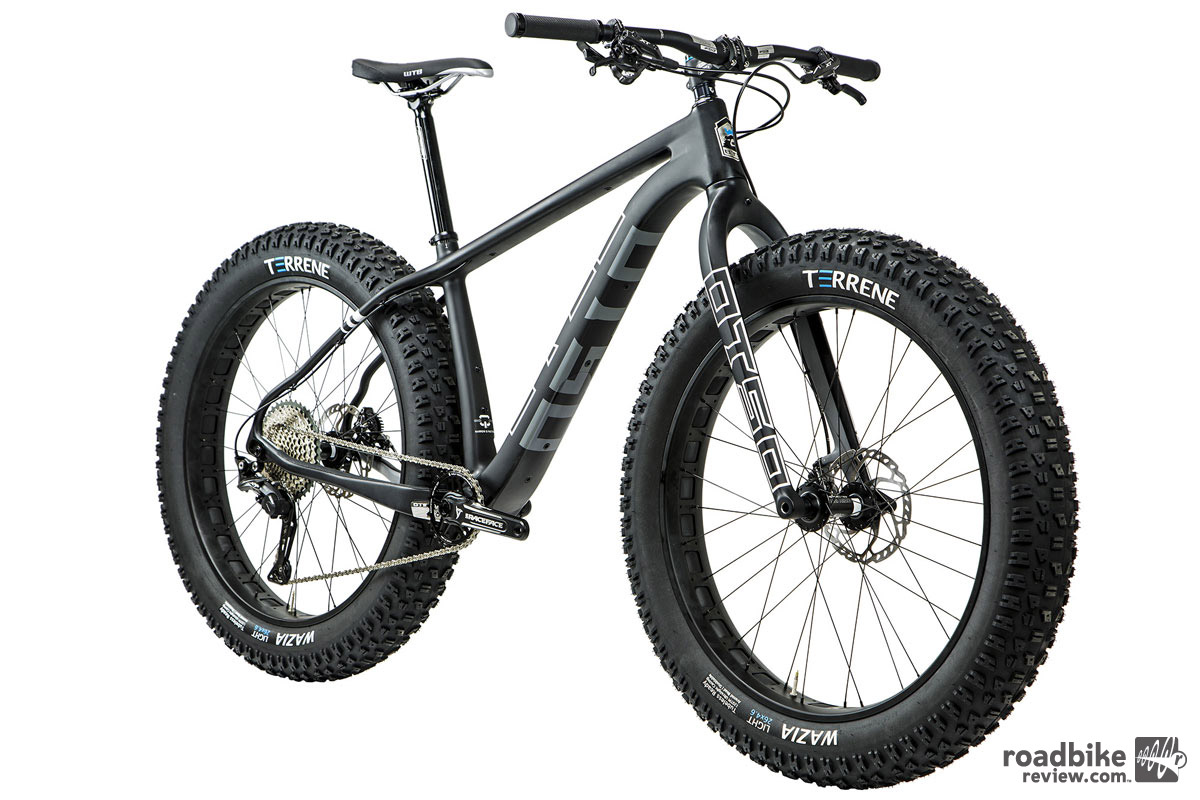 Suspension-corrected geometry is compatible with an Otso carbon rigid fork or up to 120 mm travel suspension fork.