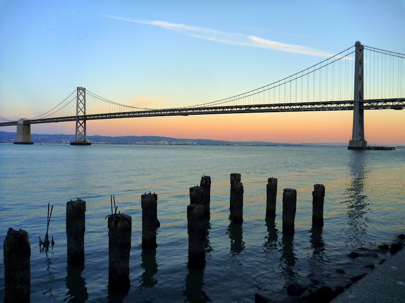 The Bay Bridge from the Embarcadero