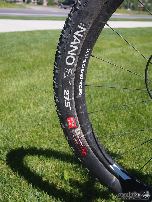 "WTB Nano 2.1x27.5"" mountain bike tires."