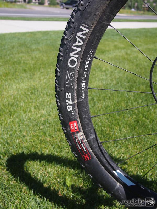 "WTB Nano 2.1x27.5"" mountain bike tires."