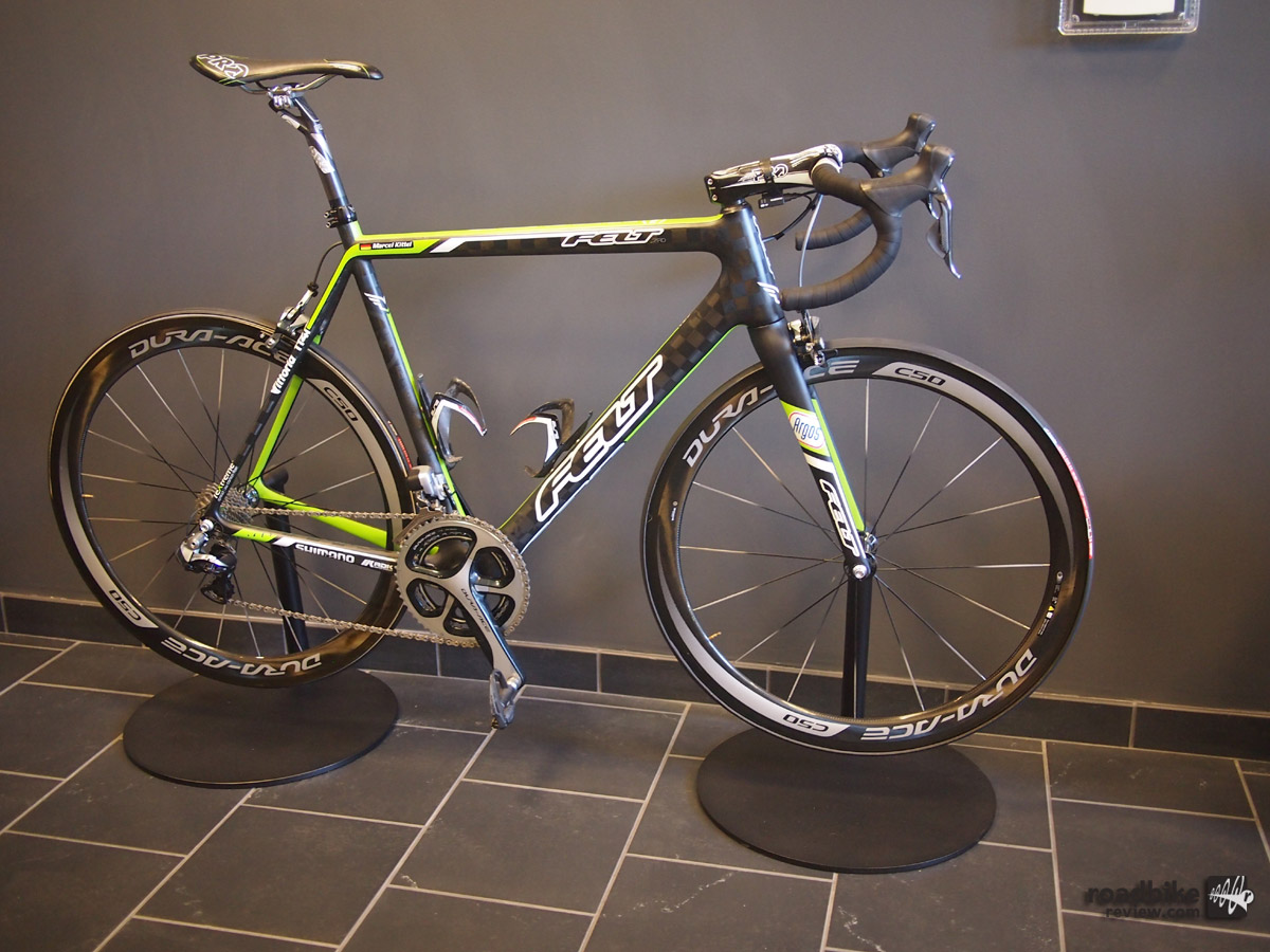 None other than Marcel Kittel's race bike at rest in the lobby.