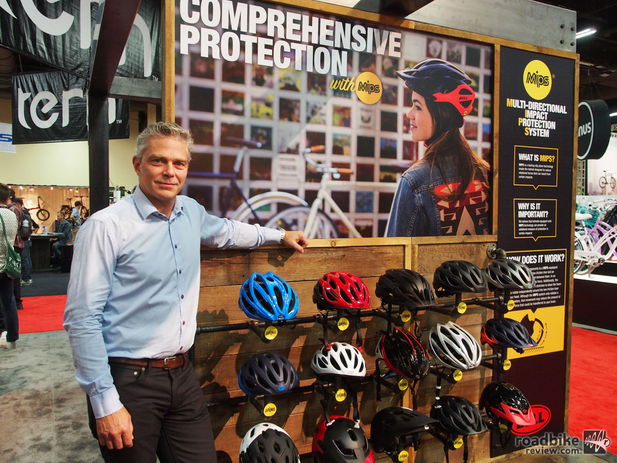 MIPS CEO Johan Thiel says 19 cycling brands use (or will soon be using) his company's safety technology.