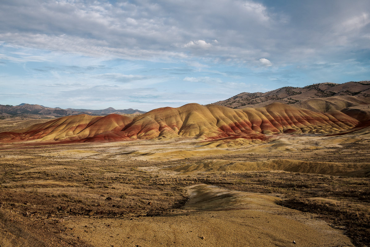 You can see millions of years of history in these colorful layers of earth.