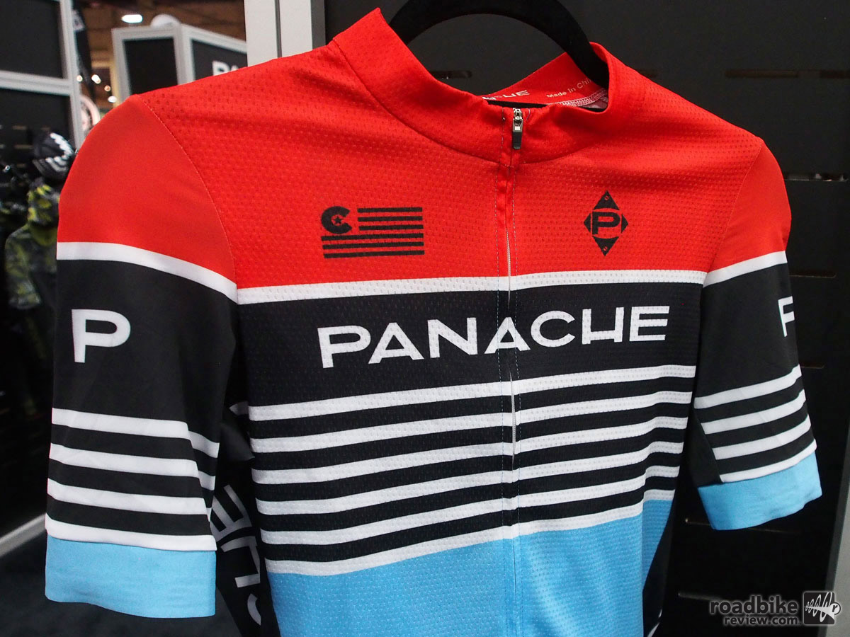 Boulder, Colorado-based Panache Cyclewear continues to pump out eye catching styles. But there's more to the new Speed Jersey than just good looks. This competition-focused top has an aero, close-to-body fit, plus a gripper band on the sleeves to keep wind flap at bay. Other features include wicking main fabric for comfort, stretch side panels for improved fit, and a full zip for easy hot-day ventilation. | MSRP: $135 | Learn more at www.panachecyclewear.com
