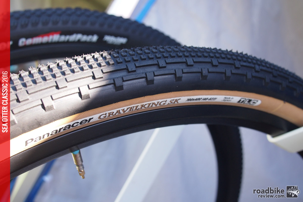 The SK stands for semi-knob and these gravel specific tires will come in 32c and 40c widths.