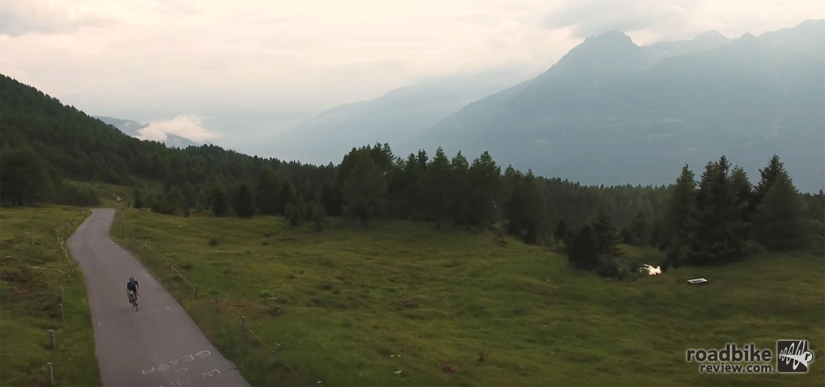 Riding the famed Passo del Mortirolo