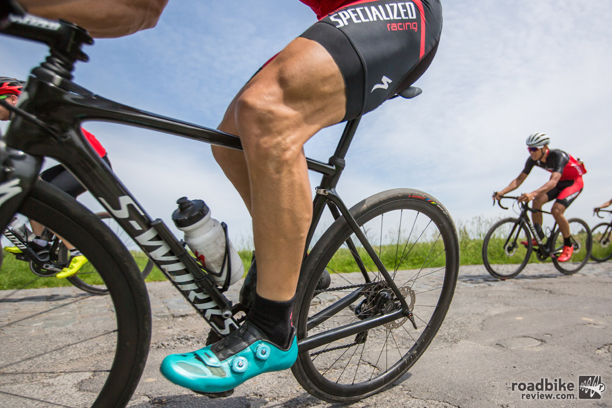 On the cobbled corners, especially at speed, the Roubaix's true beauty shines through.