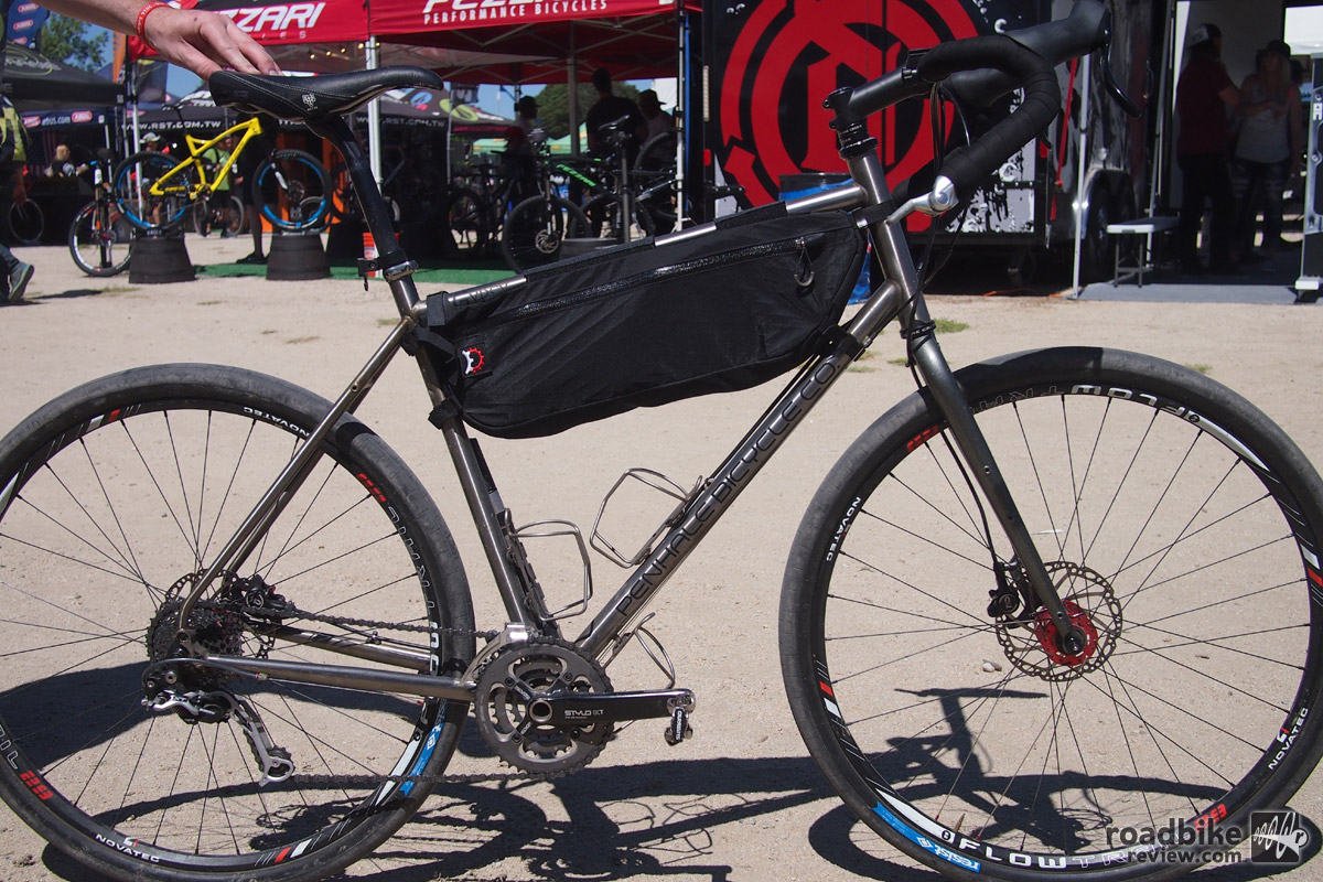 The Gypsy is made from Japanese cromoly and is designed as a versatile adventure bike that can run 700c or 29er tires.
