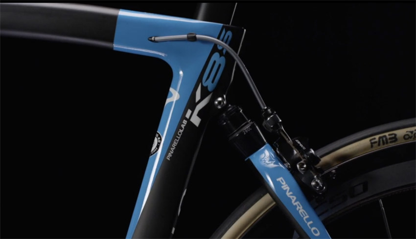 The Pinarello Dogma k8-S provides 10mm of travel and was designed in conjunction with Jaguar.