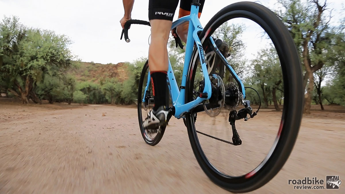 A lower BB and shorter chainstays make this bike a snappy ride.