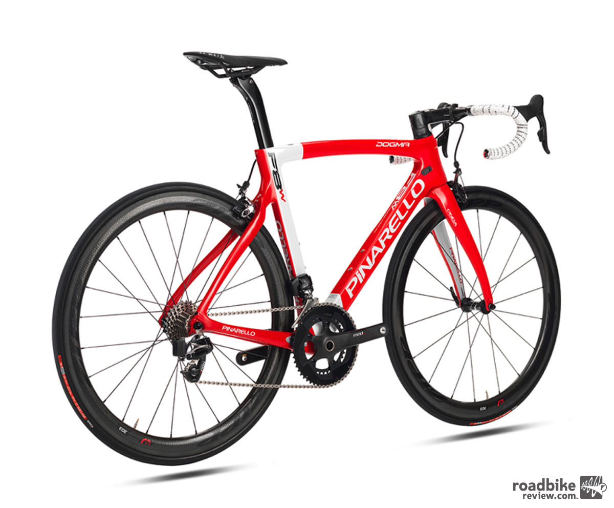 The new Dogma F8W will be available in just the pictured red-white color scheme starting in January 2016. Official pricing has yet to be released, but expect this new super bike to push above $11,000.
