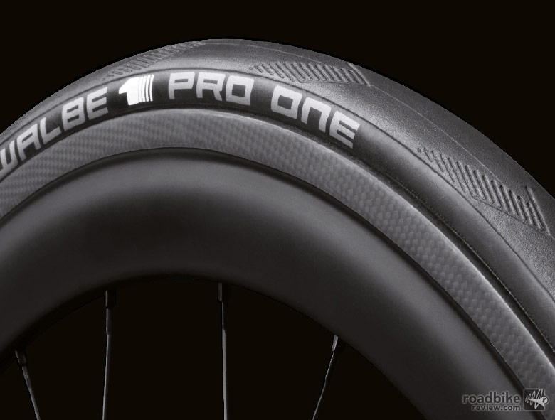 The new 235-gram tire is 70 grams lighter than the old Schwalbe One tubeless tire.
