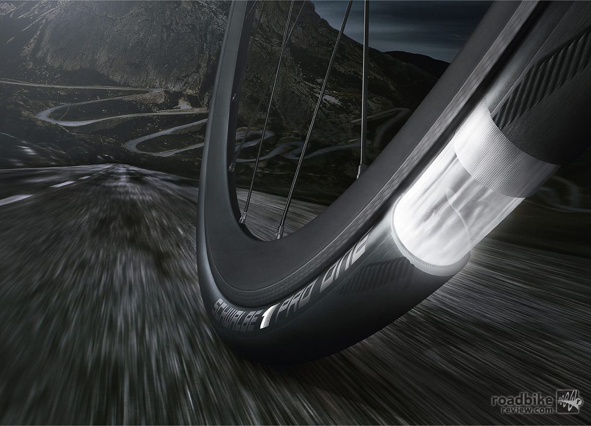 Schwalbe says its MicroSkin construction ensures air tightness and improves cut resistance.