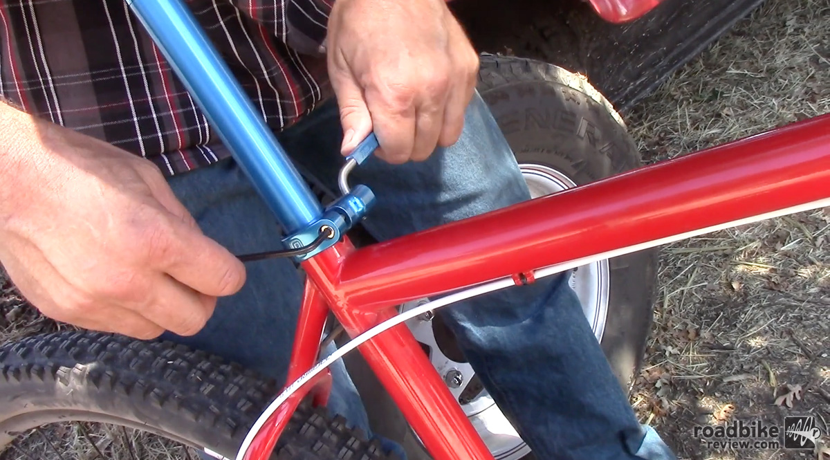 Assembling the Quick Release Seat Post Collar