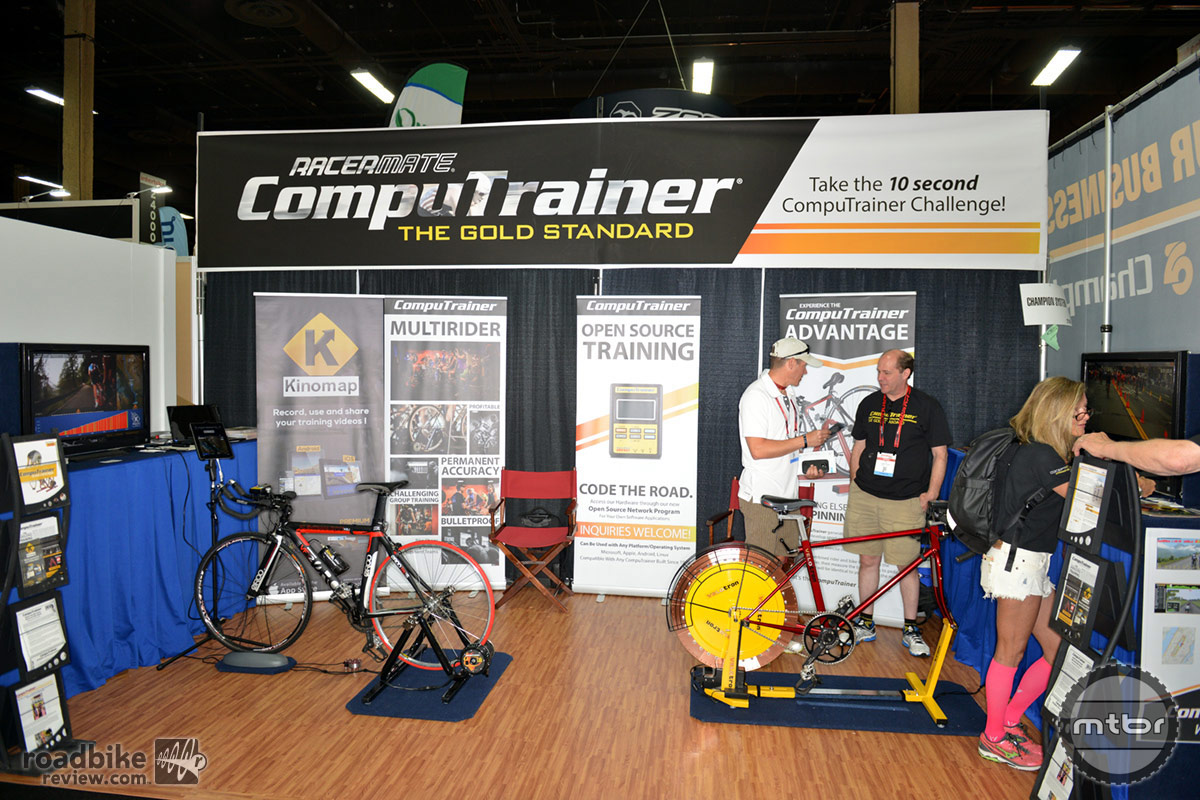 RacerMate CompuTrainer Interbike 2014 Booth