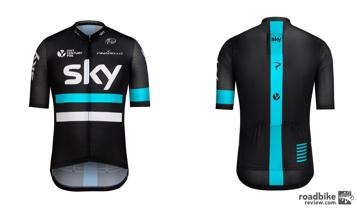 Addition of stripes across the front of the jersey and a new, brighter blue are the two most visible changes.
