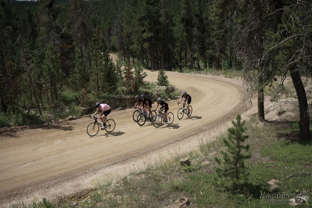 Dirt roads featured prominently in this 103-mile affair with 14,000 feet of climbing. Photo courtesy Rapha