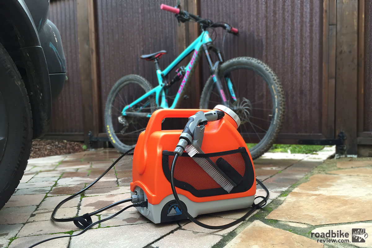 The Mountain washer power washer for bikes is a good on-the-go bike cleaning solution, if you need such a thing.