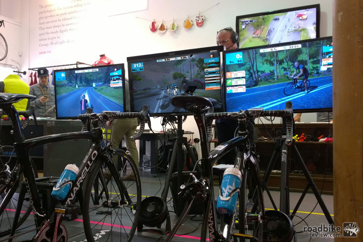 Zwift Screens Bikes