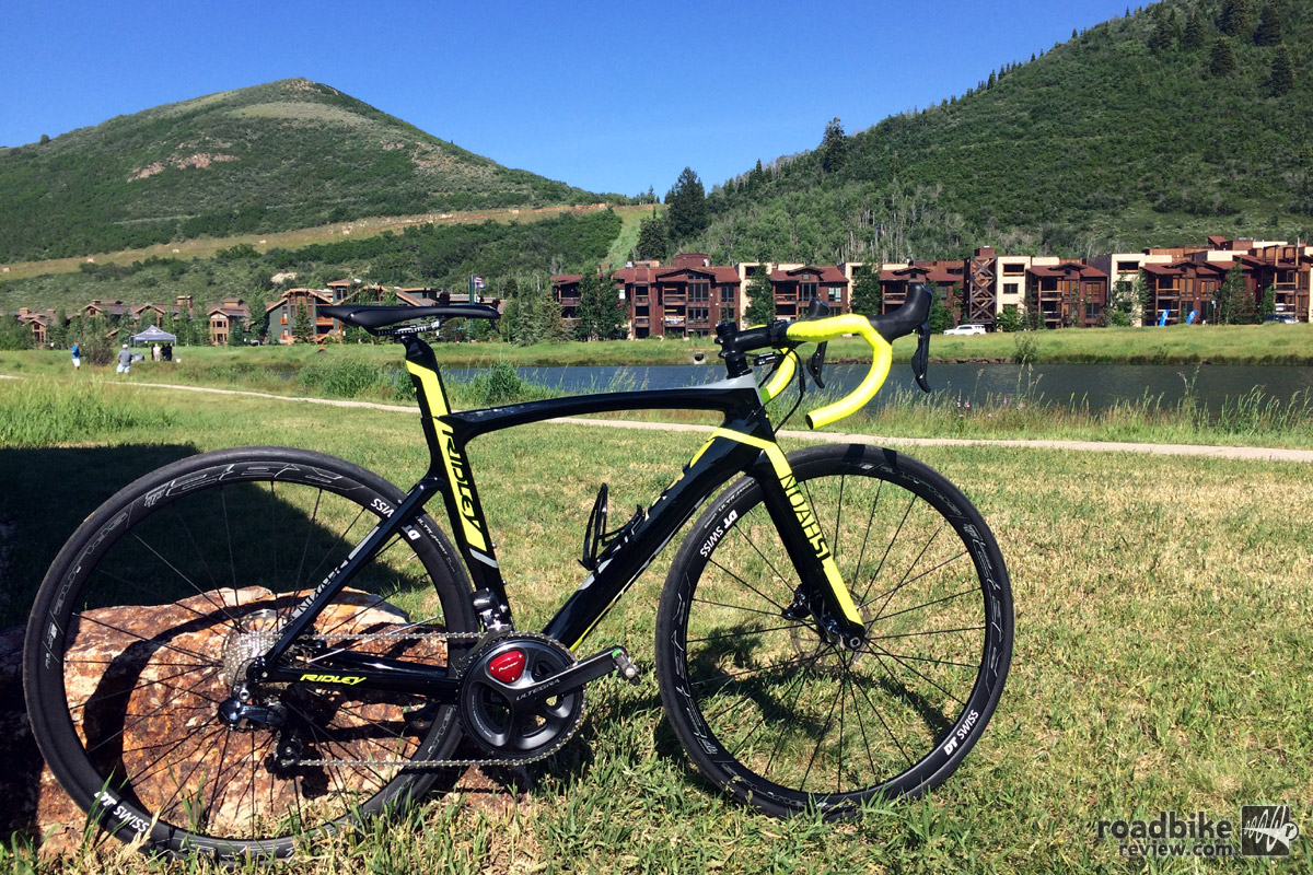 The all new Ridley Noah SL Disc is one of the first aero road bikes to feature disc brakes.
