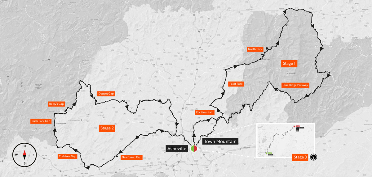 Haute Route 2018 Of Haute Route Asheville Route Revealed Road Bike News