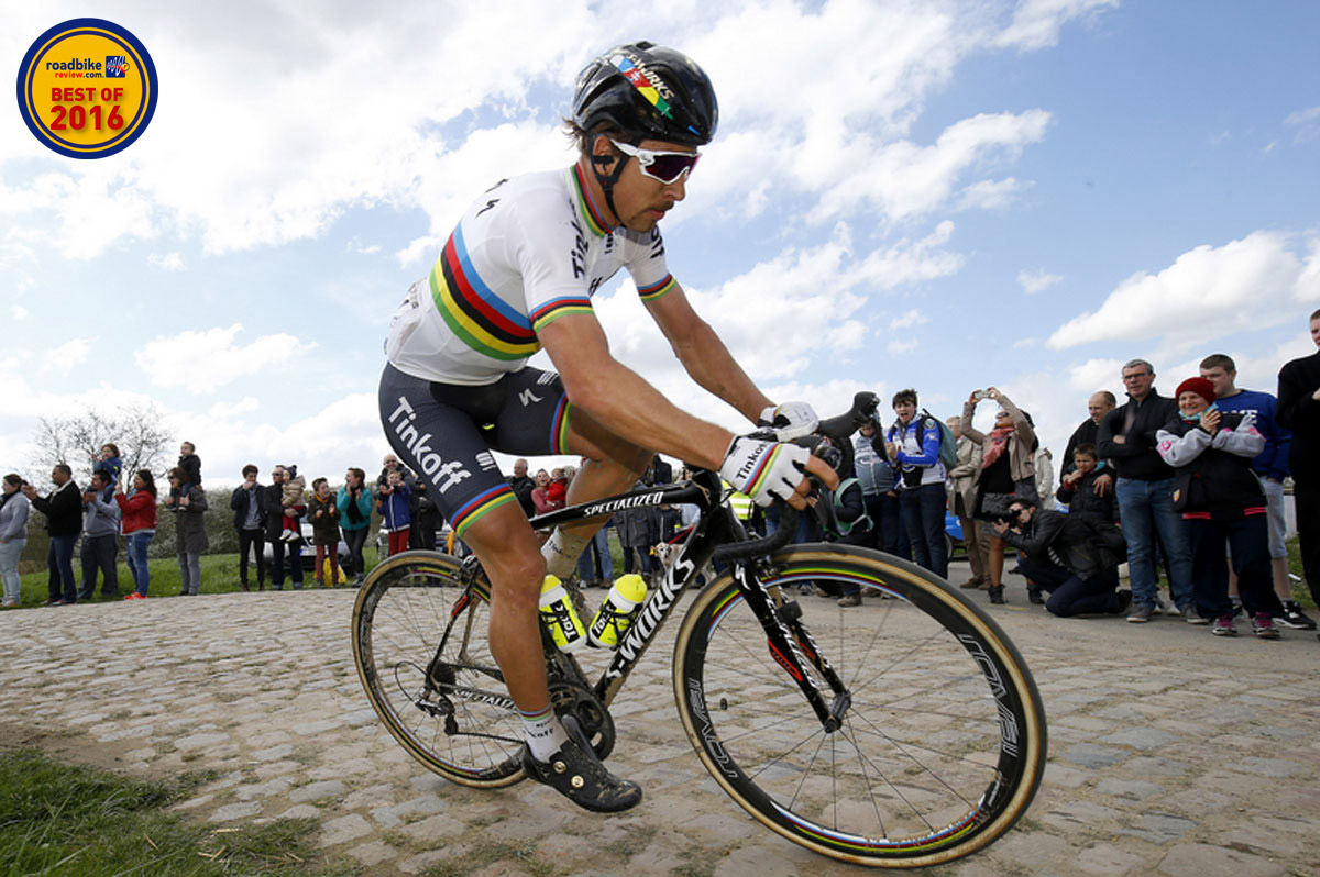 Sagan scored his first monument win with a triumph at the Tour of Flanders.