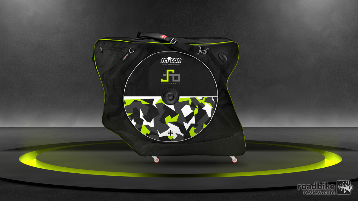 The Scicon Custom AeroComfort 2.0 TSA bike bag now comes in a Peter Sagan signature version with a price of $649.