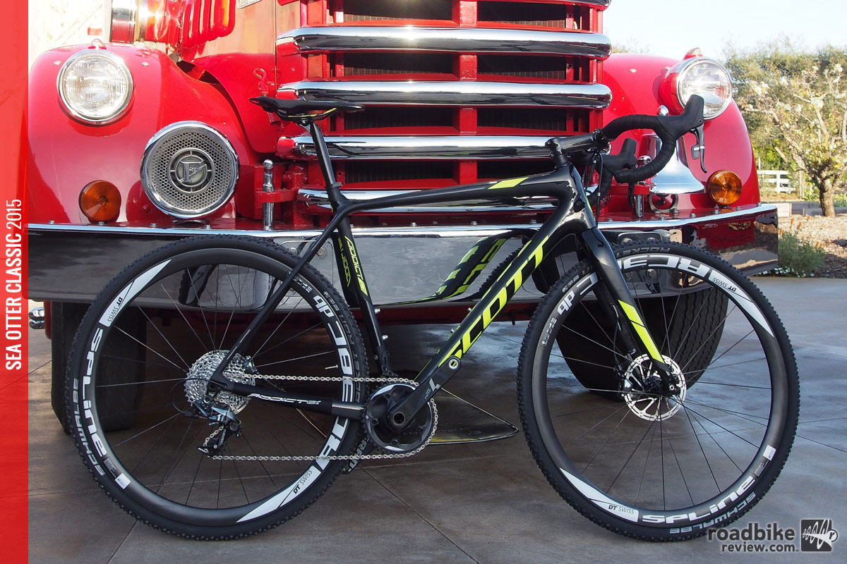 The new bike is disc only with thru-axles.