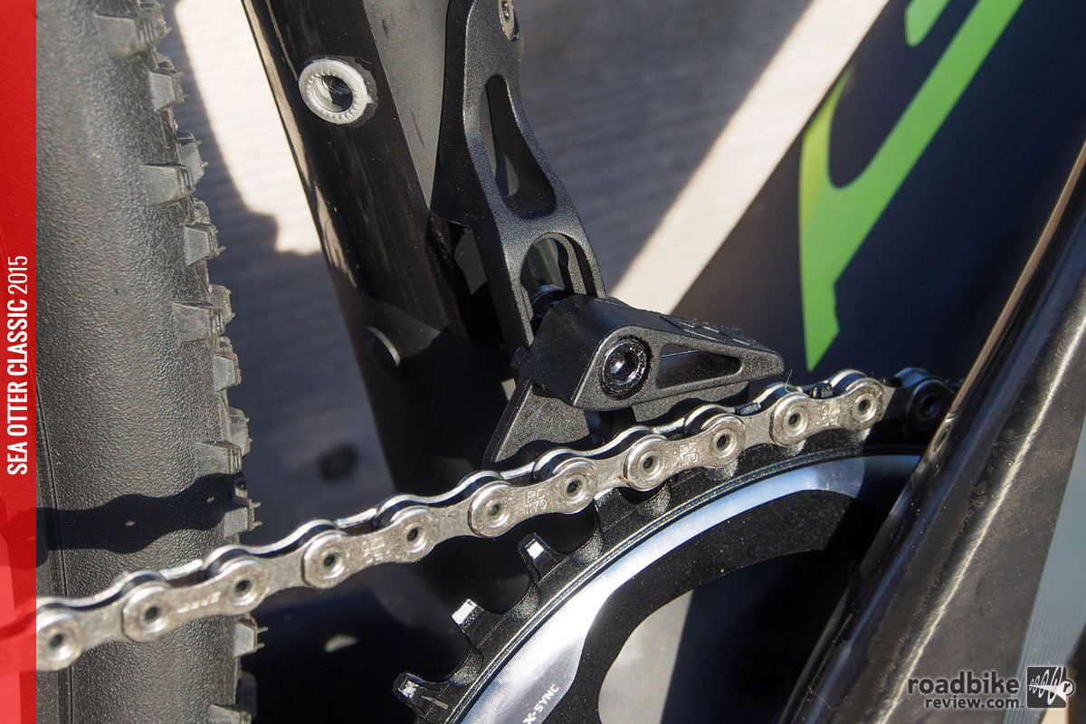 The front derailleur mount can also be used to mount a chain keeper.
