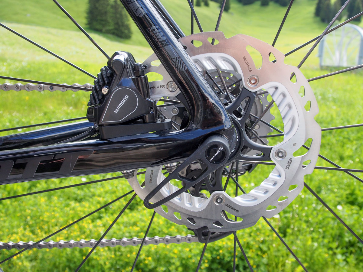 Seatstay diameter gets larger toward the rear of the bike to counteract braking forces.
