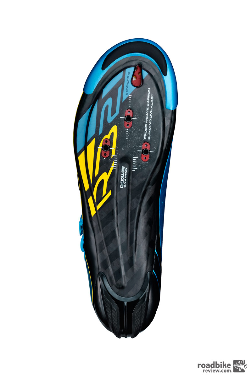 The Dynalast sole features Shimano's stiffest layup.