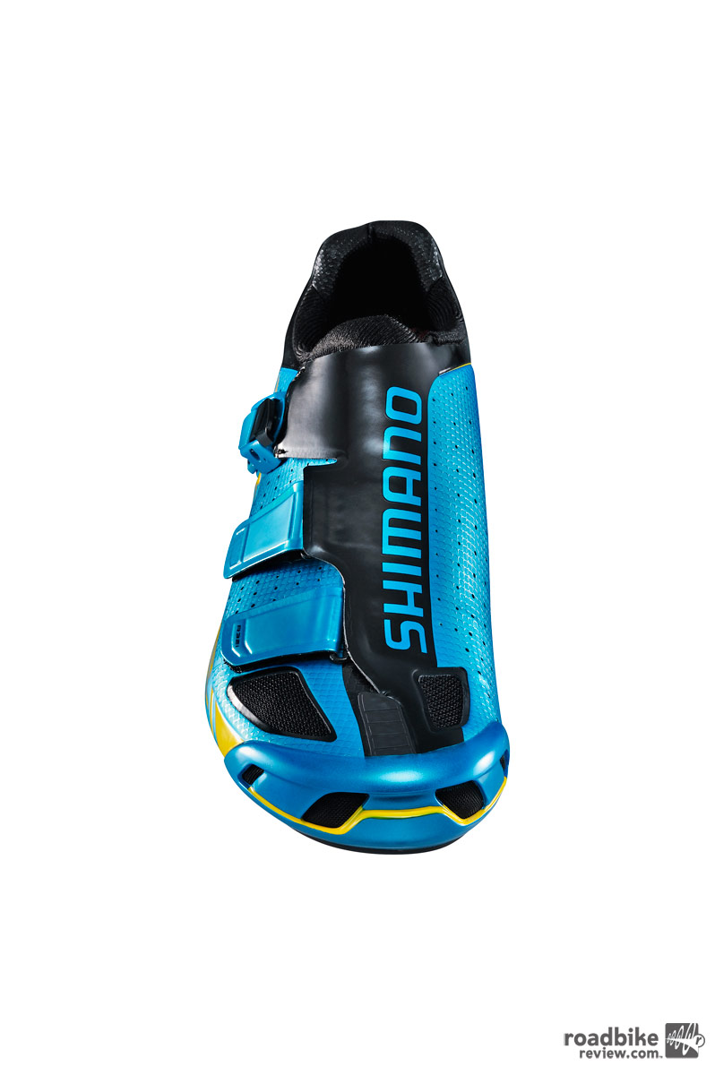 The limited edition shoe comes in Shimano blue.
