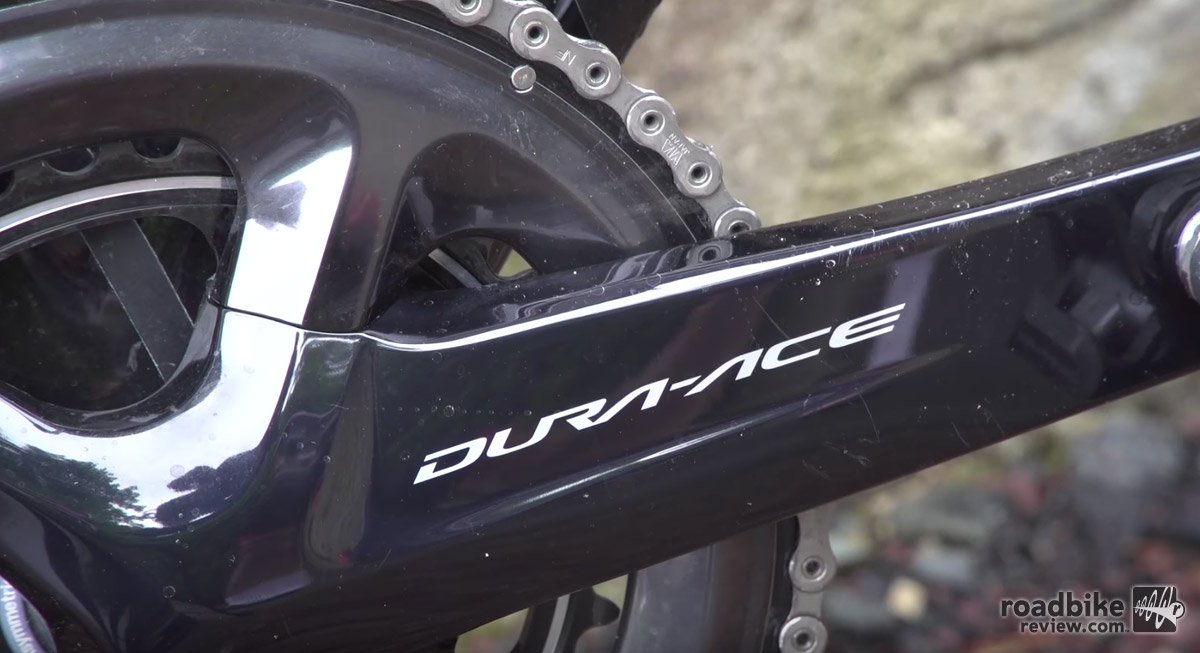 Other new technologies further integrate into the Dura-Ace system, including a power meter and wider range drivetrain that includes intuitive Shimano Synchro Shift control.