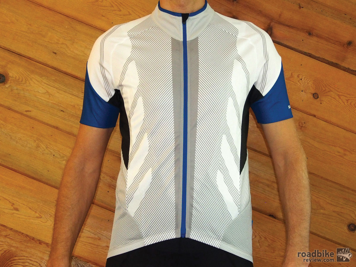 The full mesh Hot Conditions Jersey is just that, a cycling top made for hot days. Color options include the pictured white, blue and red. We love that Shimano actually uses real color names.