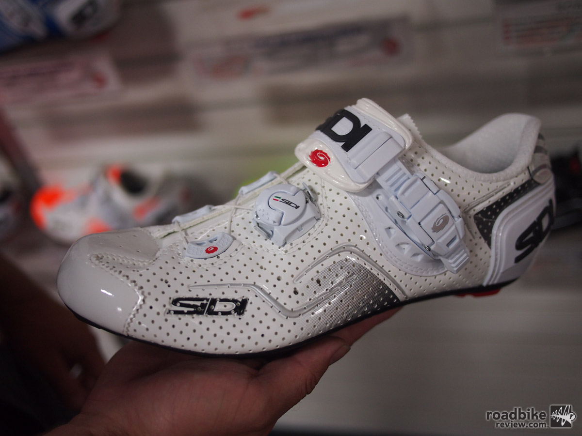 The Sidi Kaos Air Carbon features perforations to allow for better air flow and retails for $299.99.