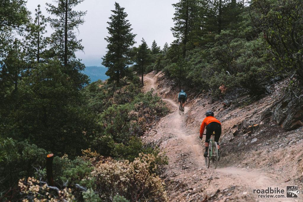 The event features a 3,000 vertical foot singletrack descent off Mount Hough. Photo by John Watson – The Radavist