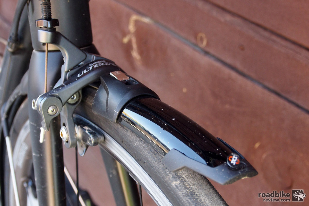 The front fender had a tendency to rattle until the bracket was sufficiently bent upwards.
