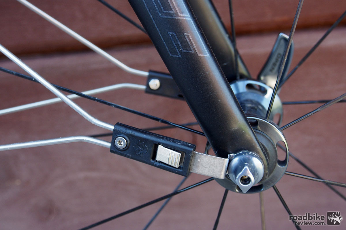 The brackets are held in place by your wheel's QR. To remove the fender simply snap them off and leave the bracket in place.