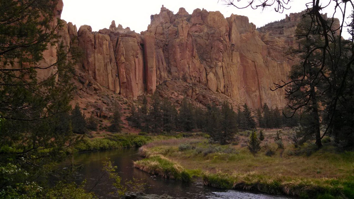 Thanks to crags like these, Smith Rock State Park is a world famous climbing destination.