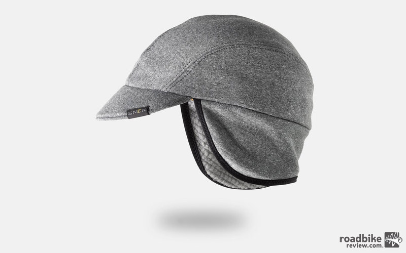 Features include a hide-able earflap for when the temperatures aren't as chilly, and a micro-fiber suede sweatband to keep your face dry.
