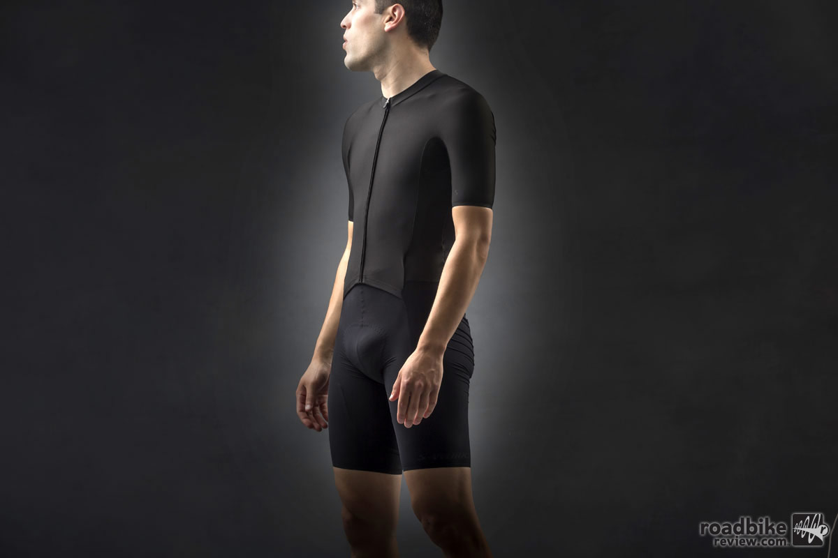 The new S-Works Evade GC skinsuit is claimed to save 96 seconds over a 40km time trial versus a standard jersey and bibs combo.