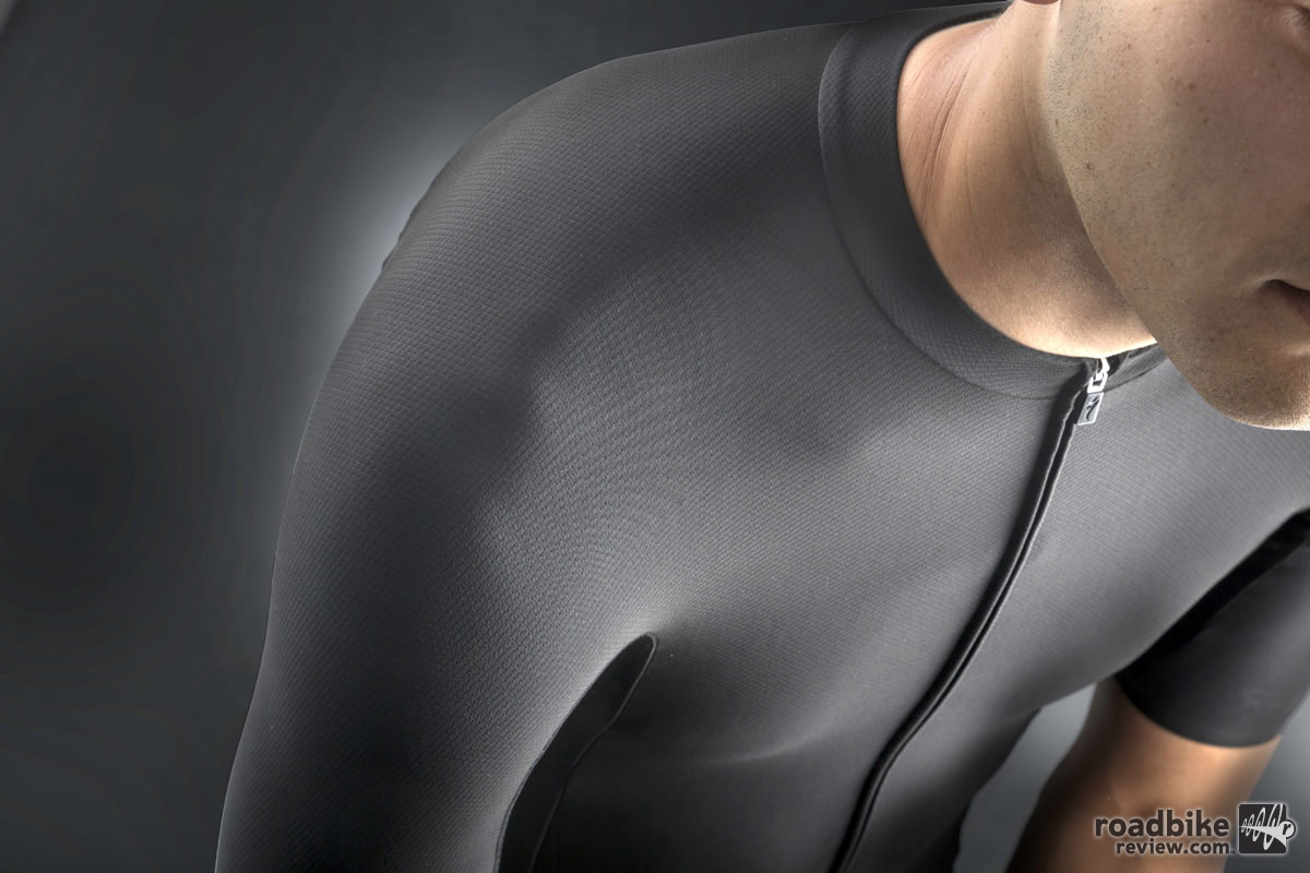 Specialized also developed a patent-pending shoulder construction that eliminates the need for seams.
