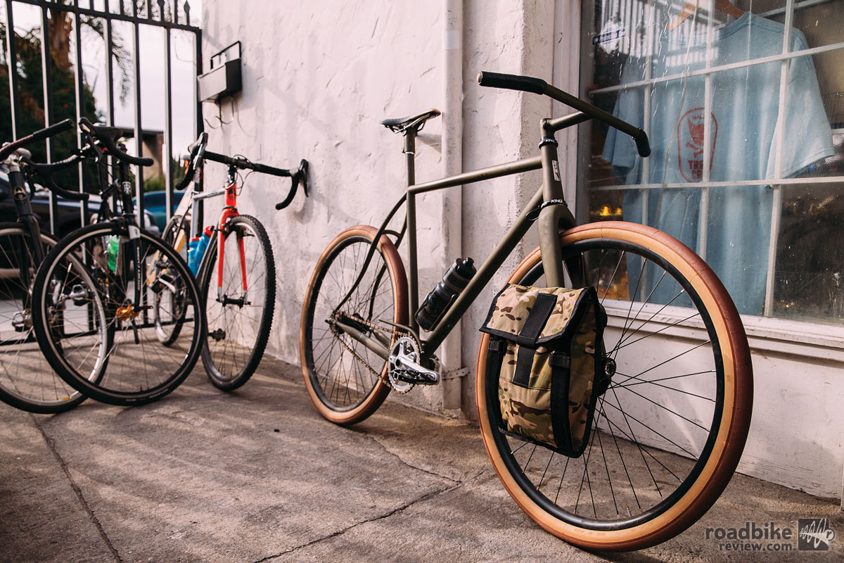 For the Urban Racer, Vanilla wanted uncluttered and very sturdy racks and bags, so they designed this thing from the ground up, without being tied to convention. The result is very light, painted to match, and holds a bag that's big enough for a laptop and a couple pieces of clothing, or a few groceries. Photo by John Watson/The Radavist
