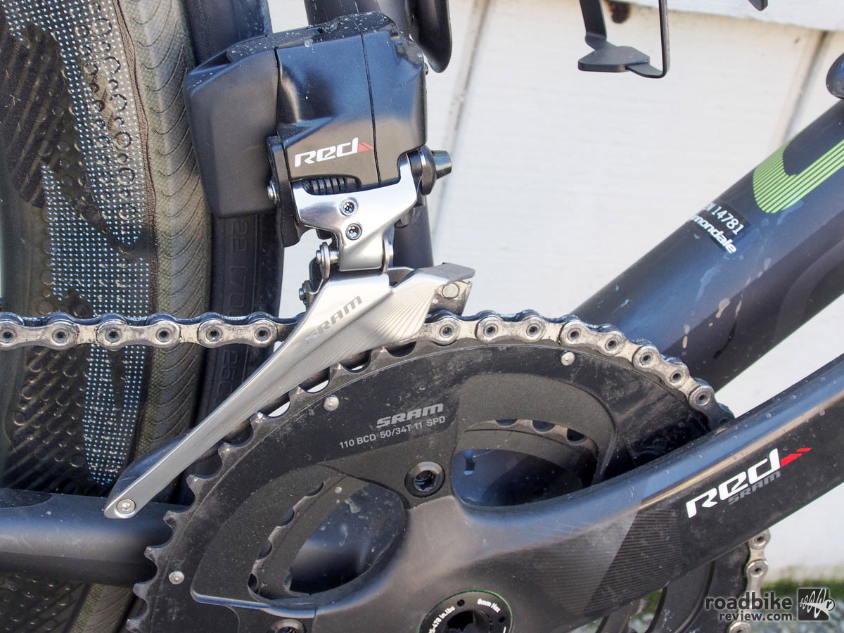 Unlike the days of old, SRAM's front derailleur shifting was essentially flawless.