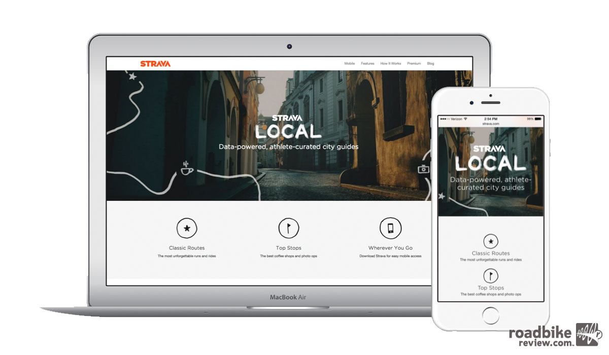 Optimized for viewing on mobile devices, athletes can access Strava Local online and select top routes to follow with Strava on the road or trail.