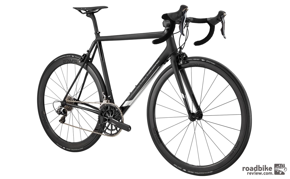 The New EVO Hi-MOD has more acceleration, thanks to a new BallisTec Carbon frame that Cannondale claims is 11% stiffer at the BB and 12% stiffer at the head tube.