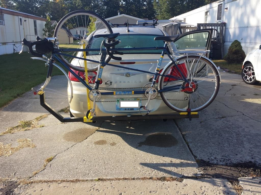 Home Made Tandem Bike Rack Fuji Tandem